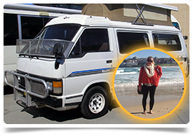 Anne and her campervan