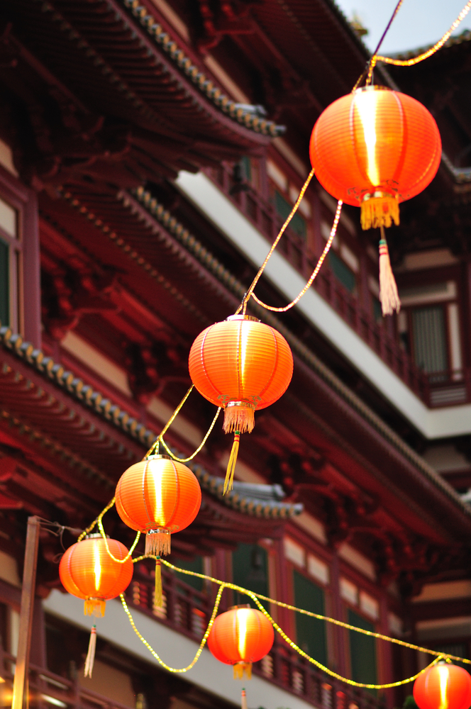 Red Lanterns, Chinatown, Singapore